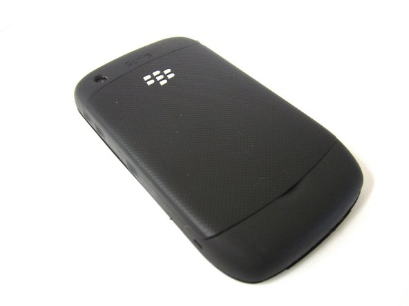 Place your Blackberry face down in front of you.