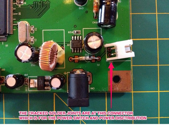 See pictures for example of Solder Joint Defect from this project.