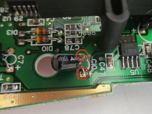 Desolder the C10 capacitor.