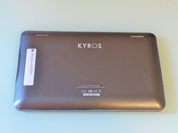 Coby Kyros MID7024 Back Cover Replacement