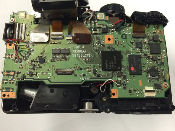 Now you have access to the camera's motherboard