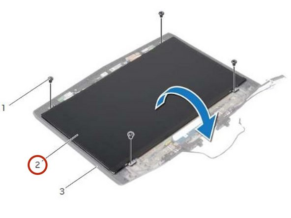 Carefully turn the display panel over and place it on the display back-cover.