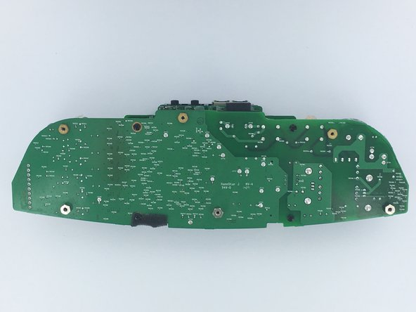 Lay the two connected boards so that the power board is facing upwards.