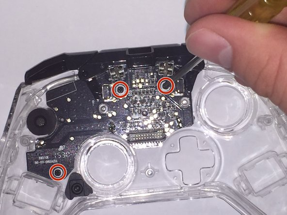 Image 1/3: Remove triggers by lifting them off the circuit board.