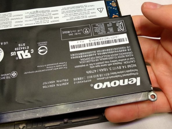 Make sure to not bend the battery! This can result in a violent explosion with flames and shrapnel!