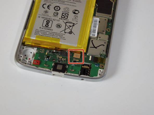 Disconnect the battery cable by pulling up on the square connector on the motherboard.