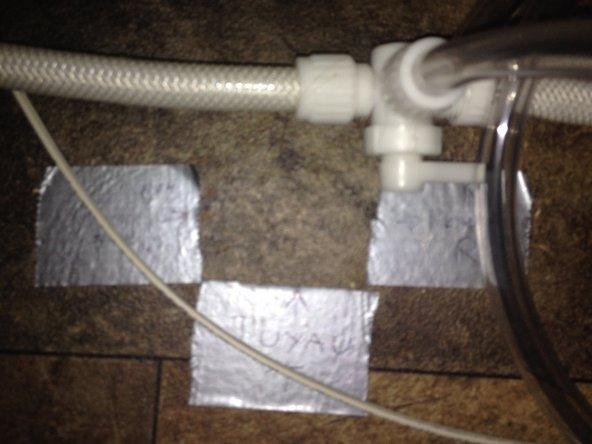 L'installation d'un Té a été nécessaire pour ne pas avoir à démonter le connecteur du réservoir