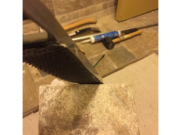 Ensure that the tile saw stays moist through the entirety of this process.