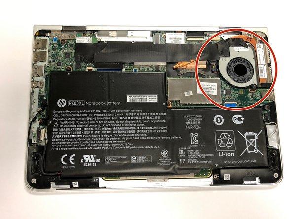 HP Spectre 13-4002dx Vent Fan Replacement