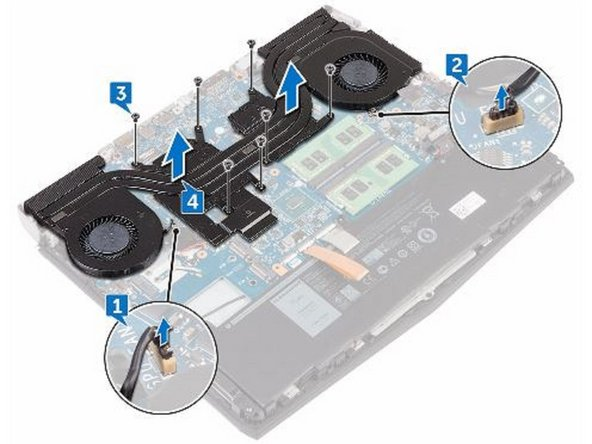 Dell Alienware 13 R3 Heat-Sink Assembly Replacement