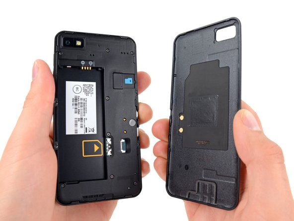 The rear panel contains an integrated NFC antenna, similar to the antenna found in the Samsung Nexus S.
