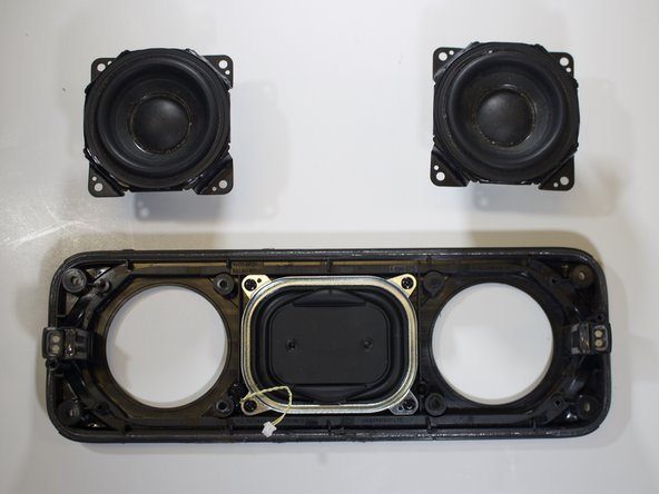 Remove the two individual speakers.