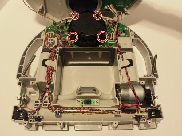 Remove the four screws on the lidar sensor.