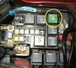 solved where is the fuel pump relay? 1998 2002 mazda 626 ifixit mazda 6 fuel pump change mazda fuel pump wiring #43