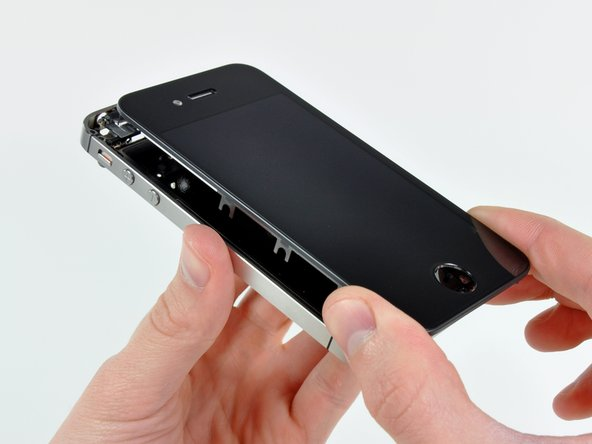 Image 1/2: The display assembly appears to be identical to that of the GSM iPhone 4 at first glance.