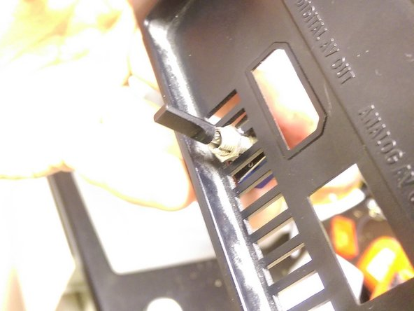 Insert the switch. In this example, a slot was removed from the vent to allow a larger switch. Make sure your switch is firmly attached and that its position will allow it to fit into the system.