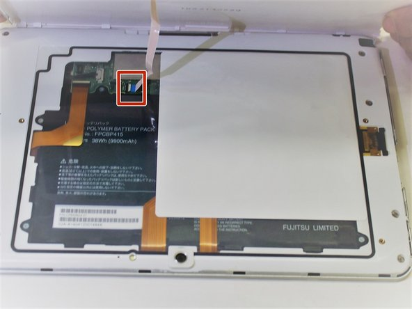 Carefully lift the back case and remove smartcard ribbon from motherboard.