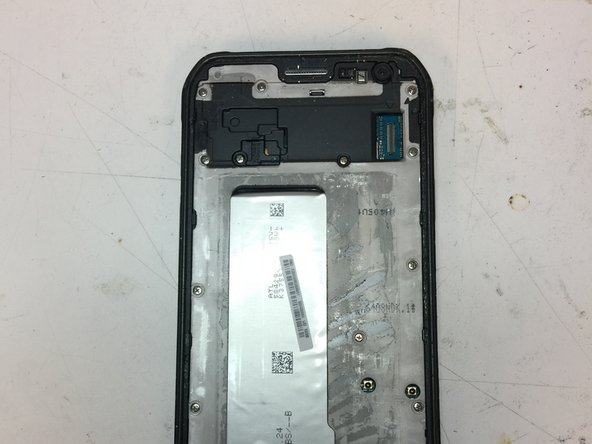 After removing the cover, you can carefully remove the screen connector from the phone board.