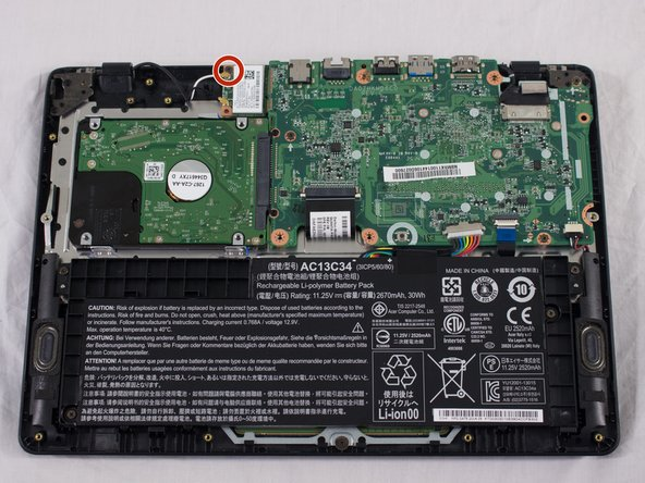 You will see a white rectangular piece next to the upper left-hand corner of the motherboard that is connected with a black cord and a white cord; this is the network card.