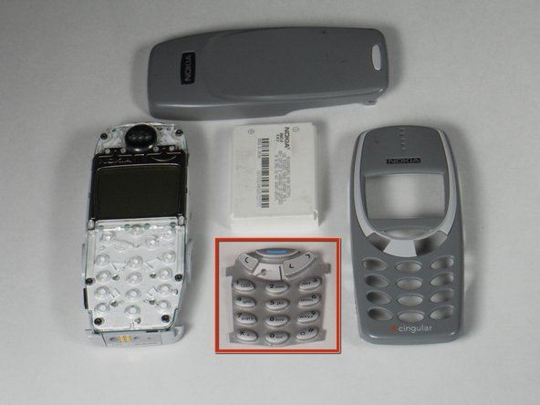 Disassembling Nokia 3395 Keypad