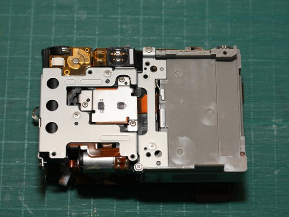 Image 3/3: The 3rd photo shows the rear of the camera with the CF card slot removed.