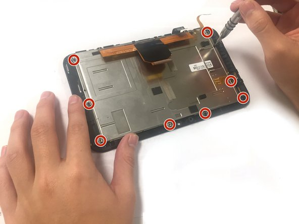 Using the screwdriver, remove the 3mm Torx T5 screws around the metal housing.