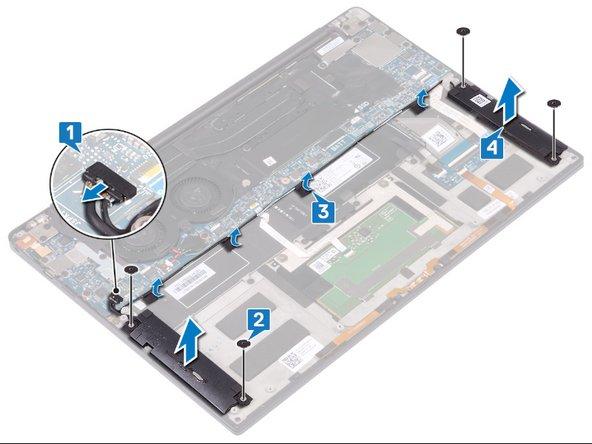Remplacement des haut-parleurs sur le Dell XPS 13 9380