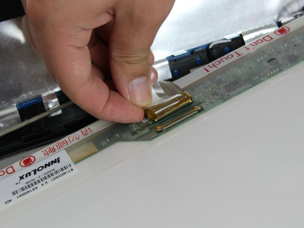 Be careful when unplugging the cable. Make sure you peel the tape all the way back before disconnecting.