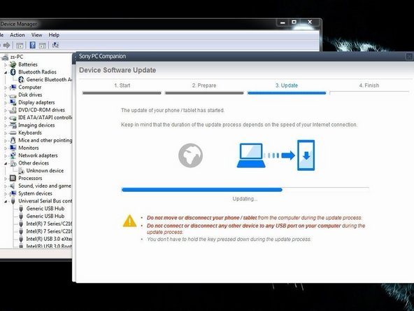 Sony Xperia Z - Password Removal, Firmware Update with PC