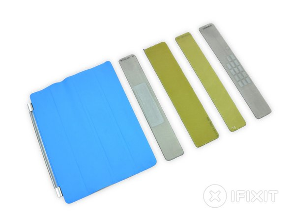 iPad 2 Smart Cover parts in teardown