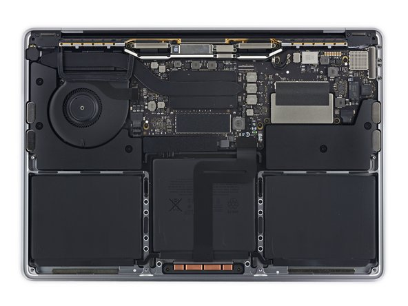 Image 3/3: Function Key features: way more components that you can actually remove right off the bat—namely the SSD, speakers, and battery (well ... [https://www.ifixit.com/Teardown/MacBook+Pro+13-Inch+Function+Keys+Late+2016+Teardown/72415#s144784| sort of|new_window=true]).
