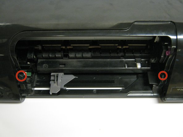Image 1/3: Carefully lift the frontal cover.