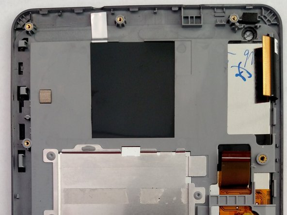 Image 3/3: Lift the motherboard from the front panel of the device.