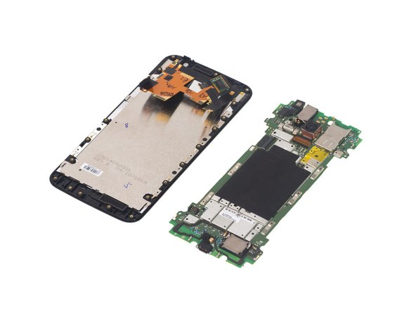 Separate motherboard assembly from LCD screen assembly.