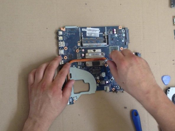 Install the Heat-sync system and screw the screws at a few steps.