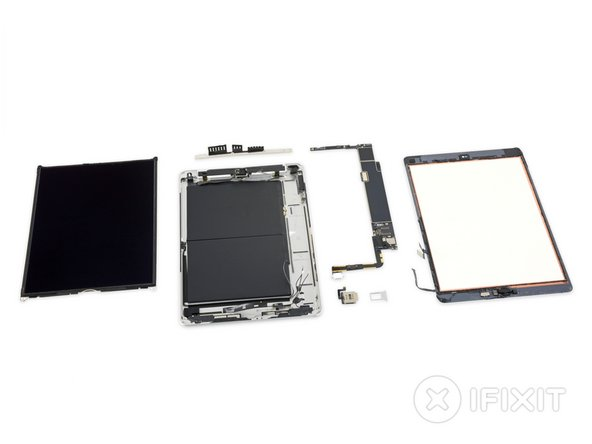 "Well there you have it, the 10.2"" iPad 6 iPad 7 laid out after facing the business end of a teardown."