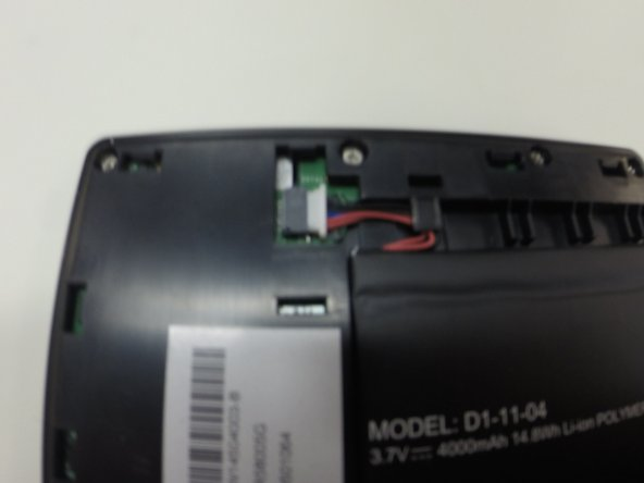 If the battery connector looks like this, it may not be making perfect contact, and your tablet may not turn on properly.