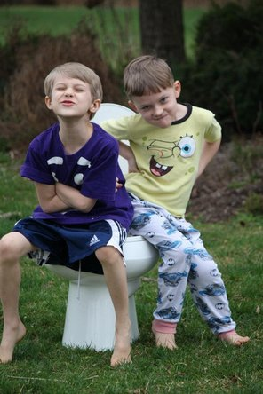 Two boys and the toilet that started iPad Rehab