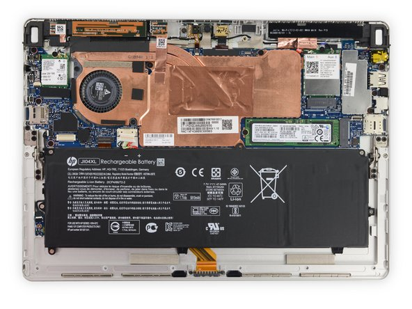Inside the HP Elite x2 1012 G2 tablet