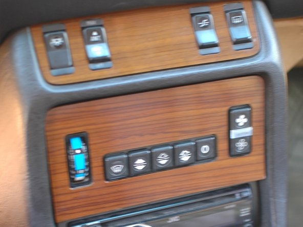 To assist with identification, this is what the second generation climate control push button panel looks like in the W123. If yours looks like this, this guide is for you.
