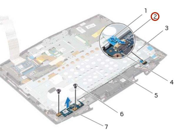 Dell Alienware 14 Reemplazo de la placa del botón de encendido