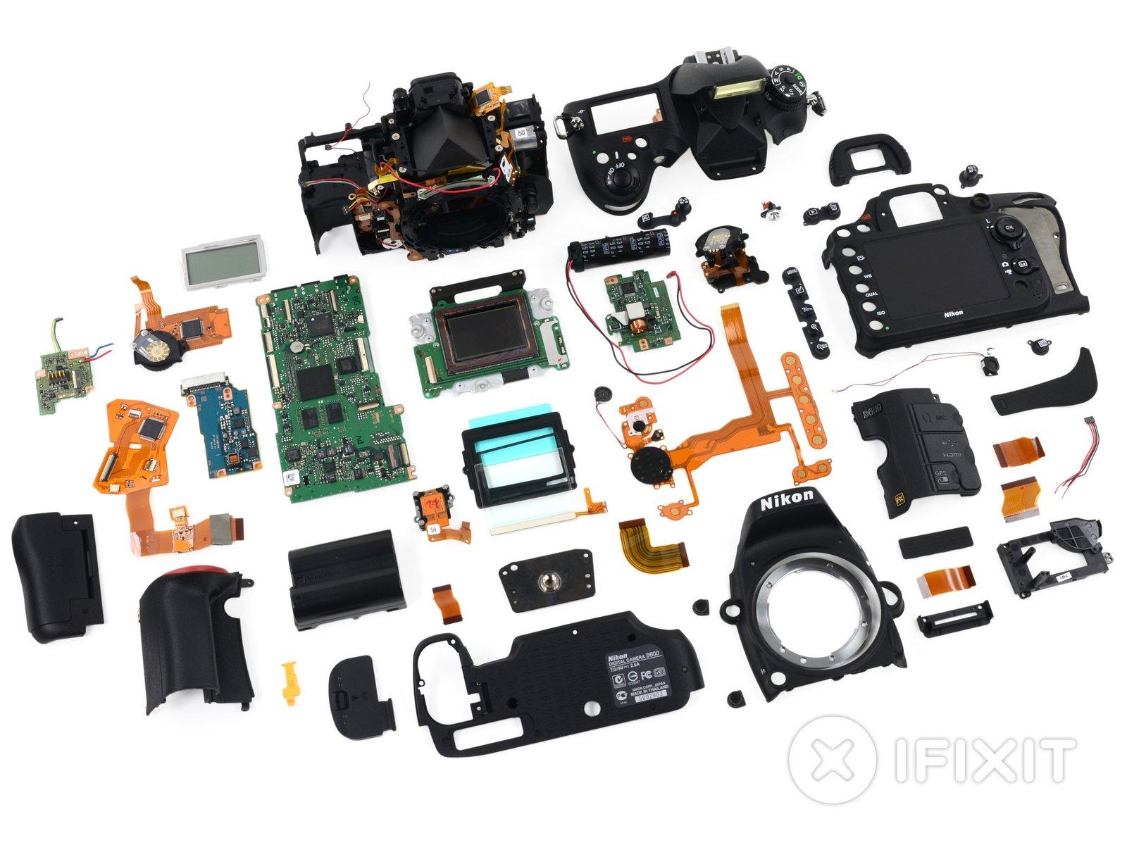 nikon d600 teardown ifixit rh nl ifixit com Nikon D600 vs Canon 6D Nikon D600 and D700