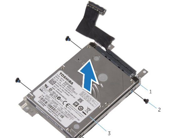 Lift the hard drive off the hard-drive bracket.