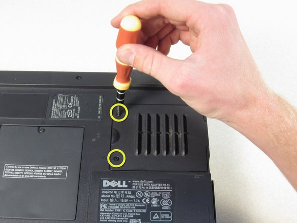 """Undo the two screws on the fan cover labeled """"F2"""""""