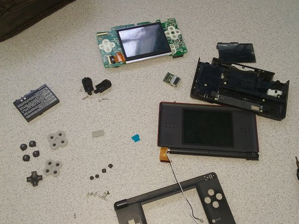 The DS should look like this and to put the DS back together simply follow steps back wards.