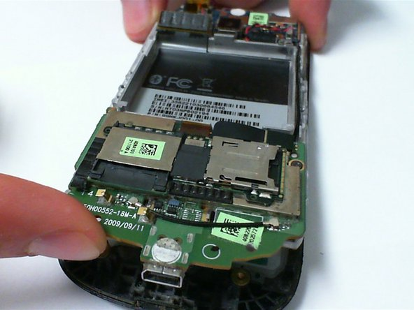 Place a finger between the circuit board and the front cover, and lift up gently.