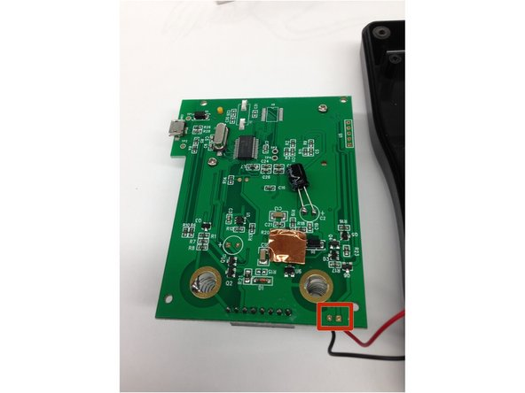 Unsolder the square locations either on the circuit board or the case to fully remove the circuit board