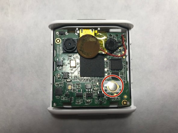 Replace capture button with advanced soldering and circuitry (circled in red).