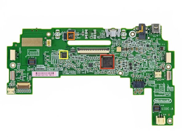 Front side of the GamePad's motherboard: