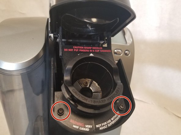 Turn off and unplug the Keurig before starting.